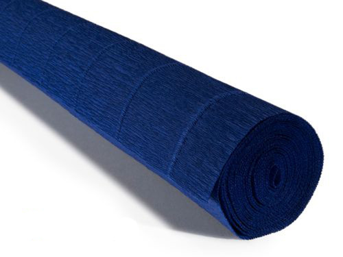 Crepe paper roll 180g (50 x 250cm) Deep Blue (shade 555)
