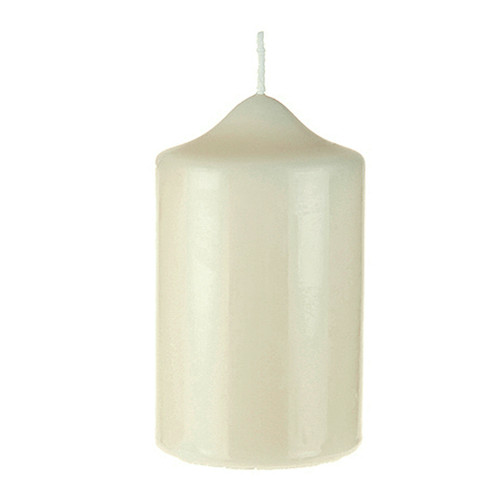 "Church Candle Ivory White 70mm/2.75"" base x 13cm/4"""