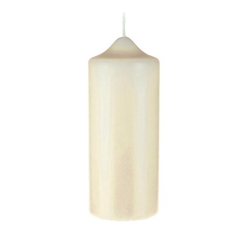 "Church Candle Ivory White 70mm/2.75"" base x17.5cm/7"""