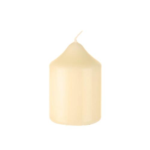 "Church Candle Ivory White 50mm/2"" base x 7.5cm/3"""