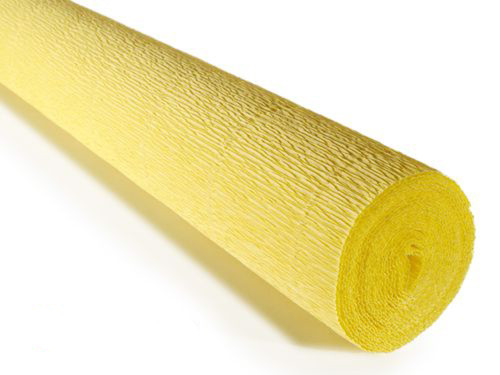 Crepe paper roll 180g (50 x 250cm) Lemon (shade 574)