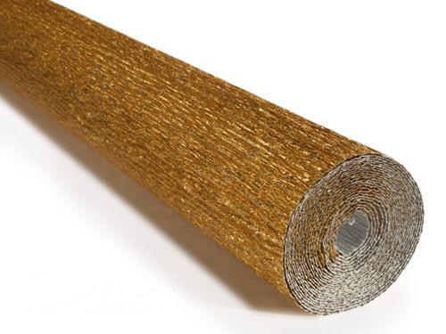 Crepe paper roll 180g (50X250cm) Metallic Brilliant Gold (shade 807)