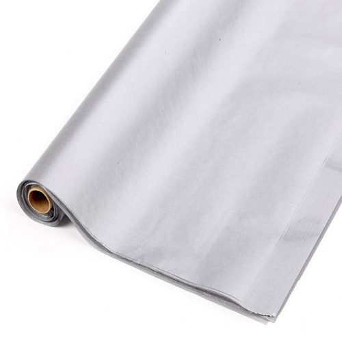 Tissue Paper Roll Metallic Silver x 48 Sheets