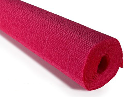 Crepe paper roll 180g (50 x 250cm) Strawberry Red (shade 582)
