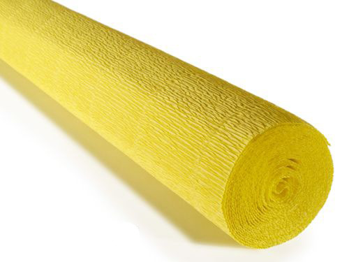 Crepe paper roll 180g (50X250cm) Yellow (shade 575)