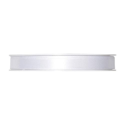 Satin Ribbon 10mm White x 25m