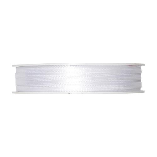 Satin Ribbon 3mm White x 50m