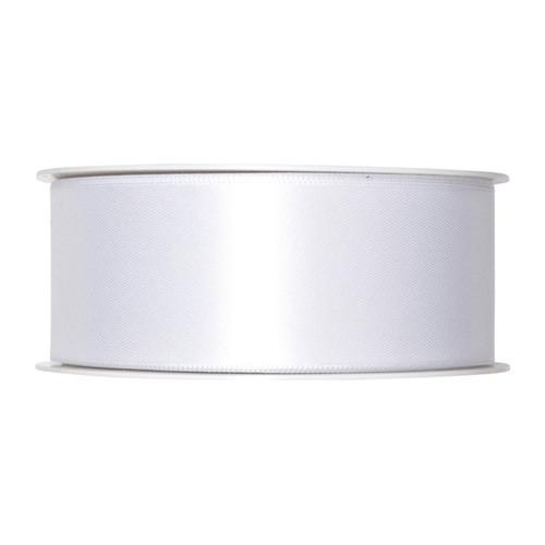 Satin Ribbon 40mm White x 25m