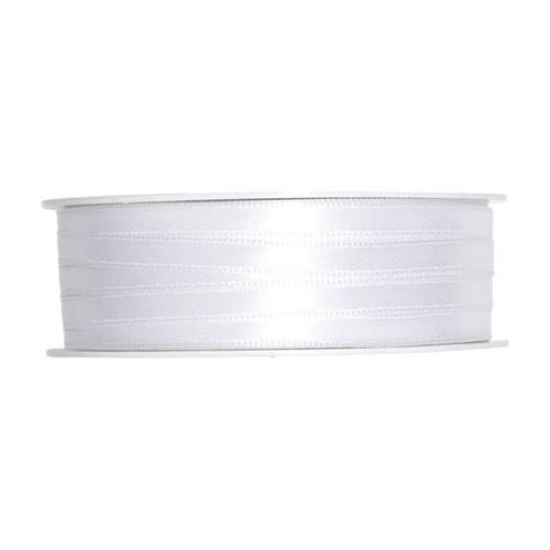 Satin Ribbon 6mm White x 50m