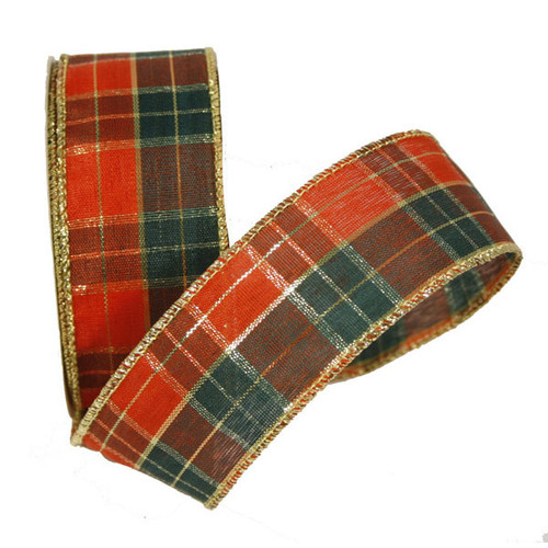 Christmas Tartan Ribbon 38mm