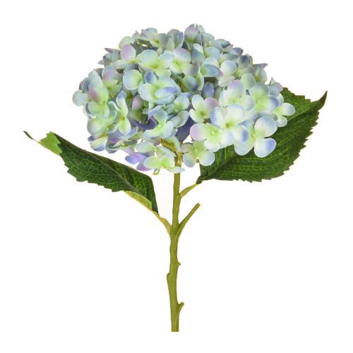 Hydrangea Artificial Single Stem 52cm Pale Blue