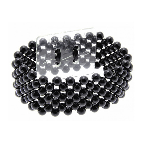 Black Pearl Beaded Corsage Bracelet 2.5cm