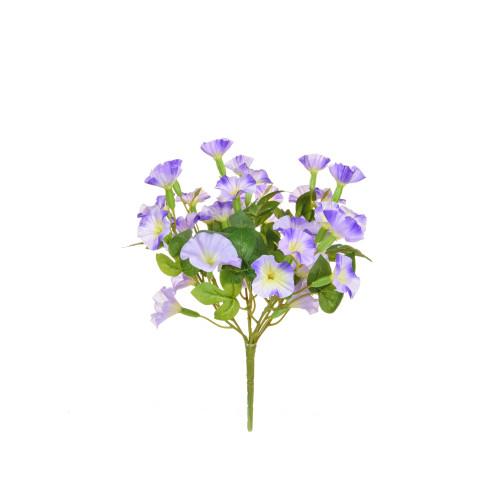 Petunia Bush Artificial Silk Upright 34cm Purple