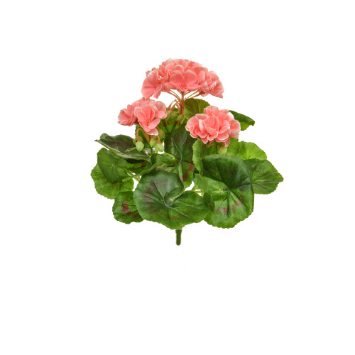 Geranium Bush Artificial Silk Upright 23cm Pink