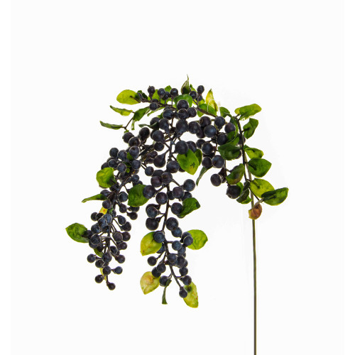 Hanging Artificial Sloe or Berry Spray Purple 55cm
