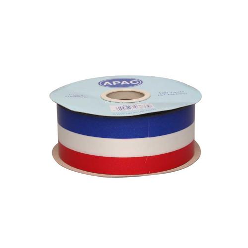 Tri-Colour Poly Florist Ribbon 50mm x 91m Red White Blue