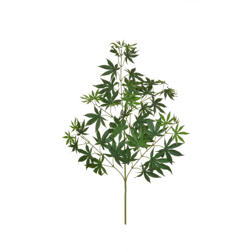 Maple Branch Artificial 70cm Green Leaves