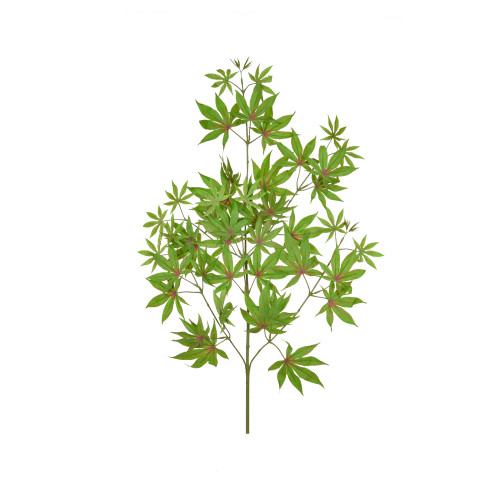Maple Branch Artificial 70cm Green Red Leaves