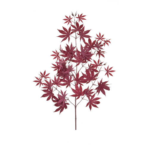 Maple Branch Artificial 70cm Burgundy Leaves