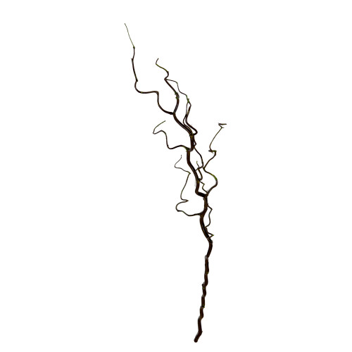 Curly Willow Branch Artificial 105cm Brown