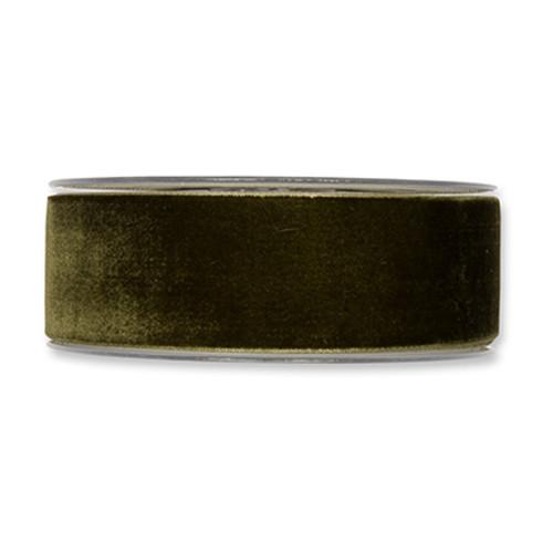 Velvet Fabric Ribbon 38mm Wide x 9.5m Dark Green