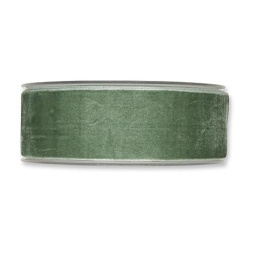 Velvet Fabric Ribbon 38mm Wide x 9.5m Mint