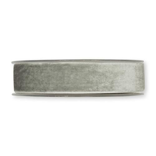 Velvet Fabric Ribbon 25mm x 9m Light Grey
