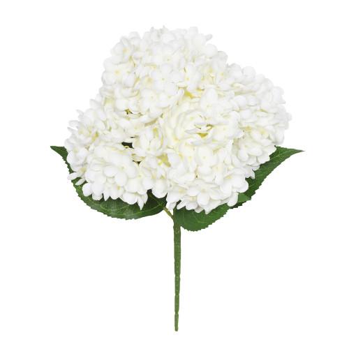 Hydrangea Bush Artificial 5 Stems 40cm Cream