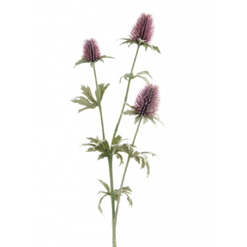 Thistle Spray Artificial 80cm Purple