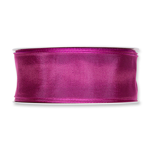 Fabric Ribbon 40mm x 25m Berry