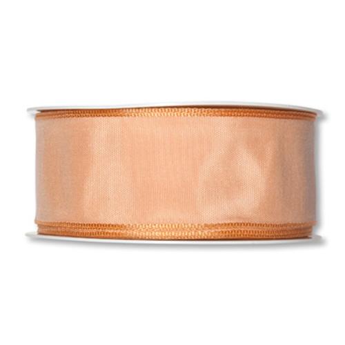 Fabric Ribbon 40mm x 25m Light Apricot
