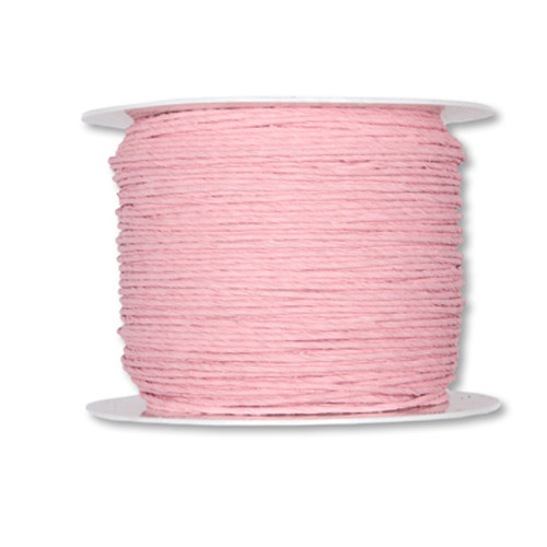Paper Cord Wired Pink 2mm x 100m Reel