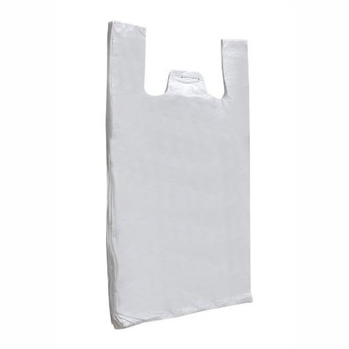 White Hurricane Vest Carrier Bags (Pack of 100)