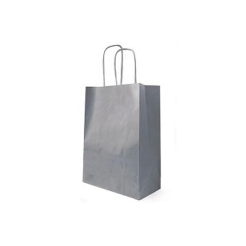 Kraft Bag Cord Handle 18 x 8 x 22cm Grey