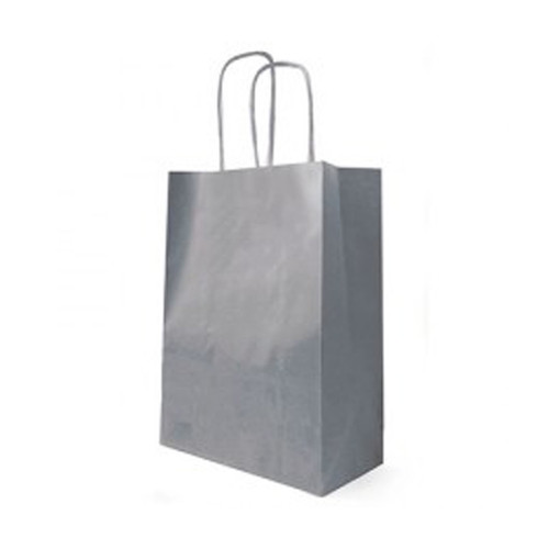 Kraft Bag Cord Handle 23 x 12 x 30cm Grey