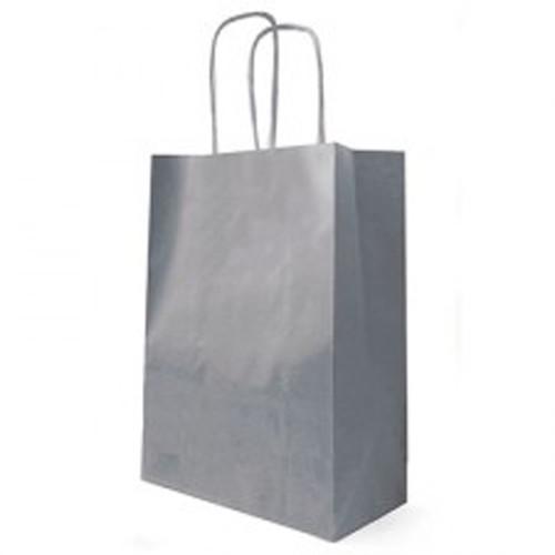Kraft Bag Cord Handle 35 x 14 x 44cm Grey