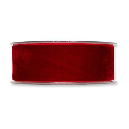 Velvet Fabric Ribbon 38mm Wide x 9.5m Red