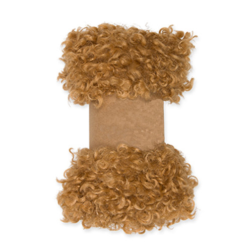 Faux Sheepskin Fleece Trim 0.9m x 10cm Wide Camel