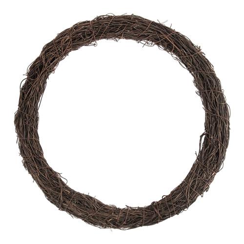 Wreath Base Dark Natural Rattan 30cm Diameter