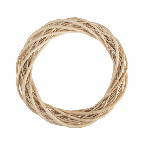 Wreath Base Woven Natural Light Willow 25cm