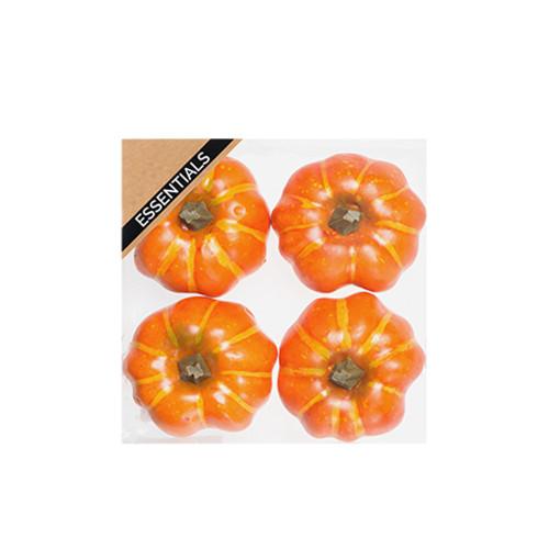 Pumpkins Small Box of 4 Artificial