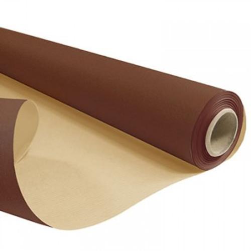 Kraft Paper Roll 50cm x 200m 6kg Dark Brown / Natural Back