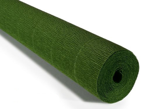 Crepe paper roll Lite 140g (50 x 250cm) Leaf Green (shade 991)