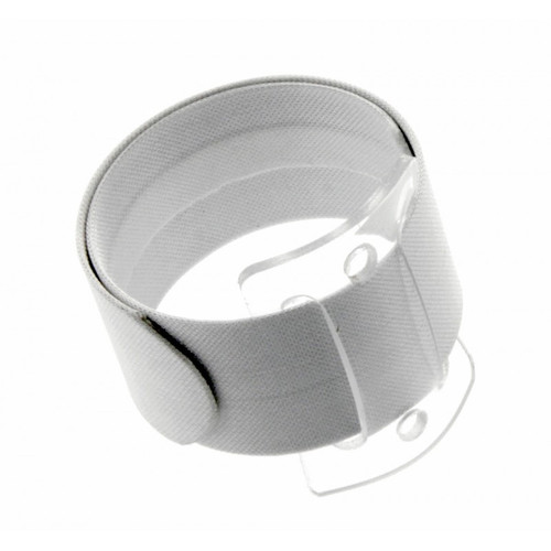 Snap/Wrap Wristlet Corsage Bracelet White 25mm Pack of 6