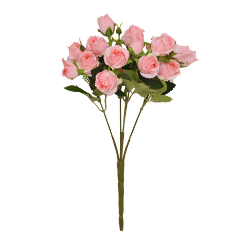 Mini Rosebud Flower Artificial Bunch Light Pink