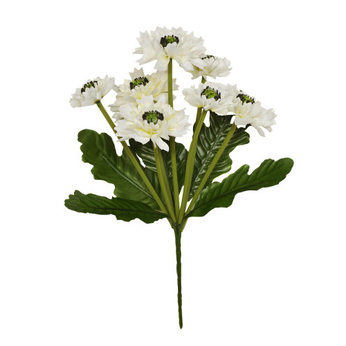 Artificial Cornflower Bouquet 7 Heads 36cm /14 Inches Ivory