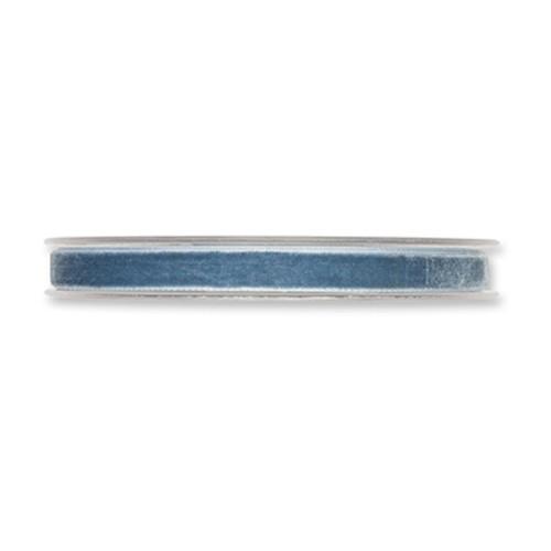 Velvet Fabric Ribbon 10mm x 9m Dusky Blue