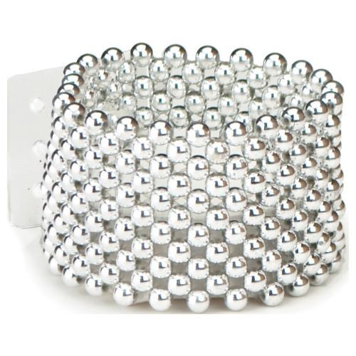 Silver Pearl Corsage Bracelet 4cm