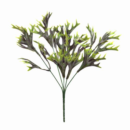 Artificial Green Staghorn Fern Platycerium Bush 36cm/14 Inches Tall
