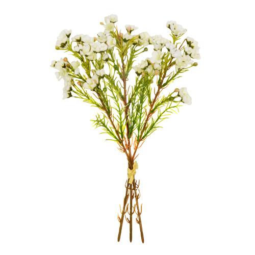 Waxflower Chamelaucium Bundle Artificial Cream